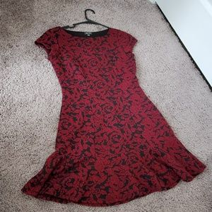 Red Designed Dress
